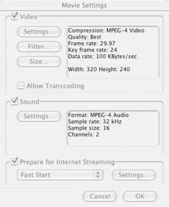 Final Cut Pro Audio and Video Encoding Settings